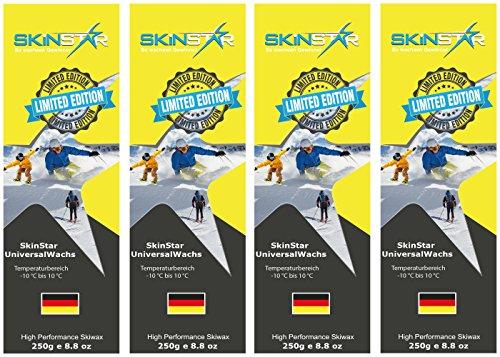SKINSTAR Universal Wachs LIMITED EDITION Ski und Langlauf Wachs Ski Wax 1000g