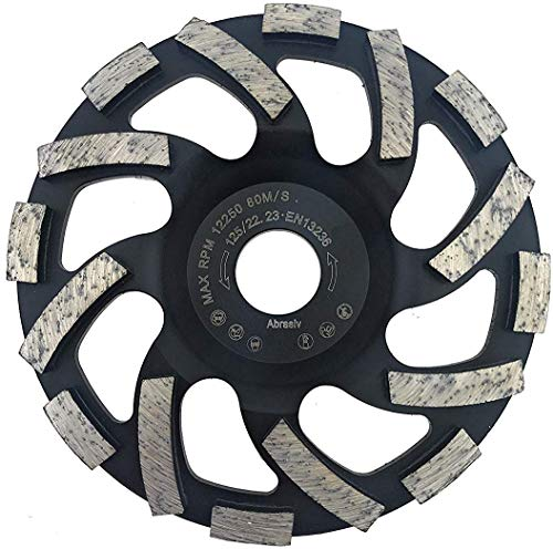 PRODIAMANT Profi Diamant-Schleiftopf Abrasiv 125 mm x 22,2 mm Diamantschleiftopf PDX82.919 125mm Estrich, Asphalt, Putz, abrasive Baustoffe passend Winkelschleifer
