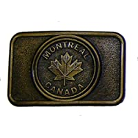 Modestone Montreal Canada Maple Leaf Buckle O/S Bronze