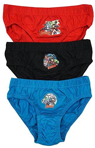 Calzoncillos de ropa interior para personajes de niñas y niños de entre 18 meses y 8 años (7-8 años, chicos Marvel Avengers)