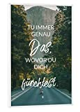 artboxONE Poster mit weißem Rahmen 60x40 cm Tu Immer Das von Künstler WizeWords - Poster mit Kunststoffrahmen