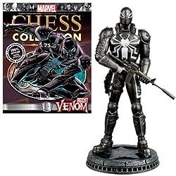 Marvel Agent Venom - Pieza de ajedrez con Revista Coleccionable, Color Blanco