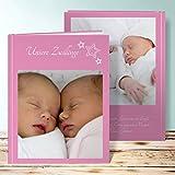 Fotoalbum Baby 1 Jahr, Snuggles 28 Seiten, Hardcover 234x296 mm personalisierbar, Rot