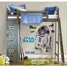 Star Wars RMK1592GM - Adhesivos de pared clásicos, 9 elementos R2-D2