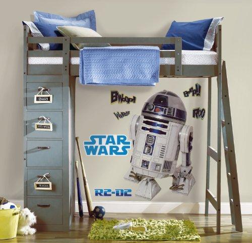 """Preisvergleich Produktbild Joy Toy 15920 Wandtattoo groß """"Star Wars R2-D2"""" 2 Blätter mit 9 Elementenn"""