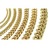 Curb Chain Necklace or Bracelet, 18ct Gold Doublé, Men Women Jewelry From Factory tendenze ITALY