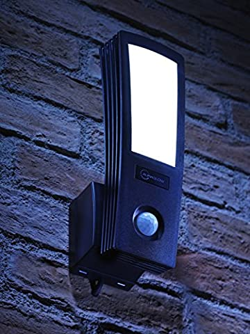 Auraglow 16W LED Low Energy Motion Activated PIR Sensor Outdoor Security Wall Light - 120w EQV -