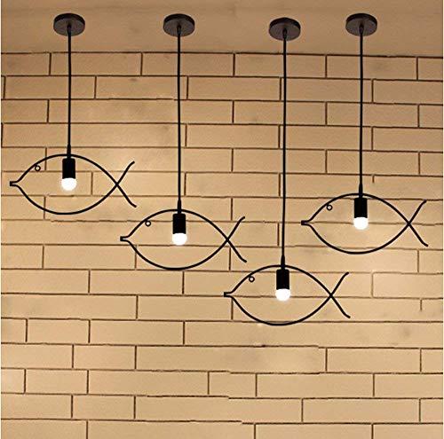 YAN Guo Home Vintage Kronleuchter Kreative Haushalt Beleuchtung Schlafzimmer Wohnzimmer Persönlichkeit Lampen und Kronleuchter Fisch Frigobar Nordic Einfache Eisen Antiquitäten Geschäfte und Korridor - Antiquitäten, Kristall-kronleuchter