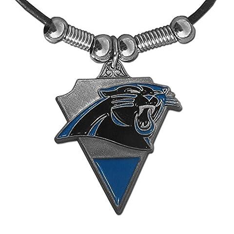 NFL Carolina Panthers Leather Cord Necklace