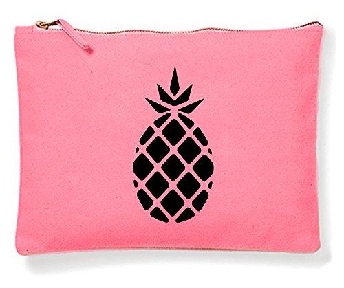 HAPPY FREAKS Kosmetiktasche Kulturbeutel 'Ananas' Pink -