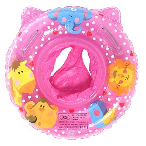 UClever Baby Kleinkinder Schwimmreifen Schwimmsitz Schwimmhilfe Schwimmring Cartoon Cartoon Wildtiere für 6-36 Monate (Rosa)