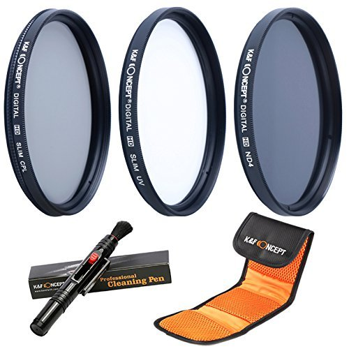K&F Concept Objektiv Filterset 62mm UV CPL ND4 Slim UV Filter 62mm CPL Filter 62mm Polfilter 62mm...