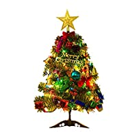 30/45/60cm PVC Mini Christmas Tree with 23pcs Christmas Tree Decoration Accessories + Xmas Tree Light String for Home Dector Gaodpz (Christmas Tree Height : 0.6M)