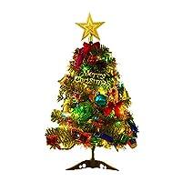 30/45/60 سم شجرة كريسماس صغيرة من البولي فينيل كلوريد مع 23 قطعة من إكسسوارات تزيين شجرة الكريسماس + سلسلة إضاءة شجرة الكريسماس للمنزل ديكور، Gaodpz (ارتفاع شجرة عيد الميلاد: 0.6 م)