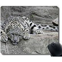 Yanteng Cojín de ratón depredador del Leopardo de Leopardo de Nieve Modificado para requisitos particulares
