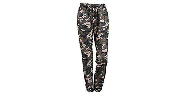 Femme Pantalon Militaire Vintage Fashion Large Pantalon De Loisirs avec  Cordon De Serrage Outdoor Fille Vêtements Mouvement Training Pantalon Sport  Pantalon ... be54ec1dd34