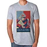 Harambe Gorilla Poster Design Medium Herren T-Shirt