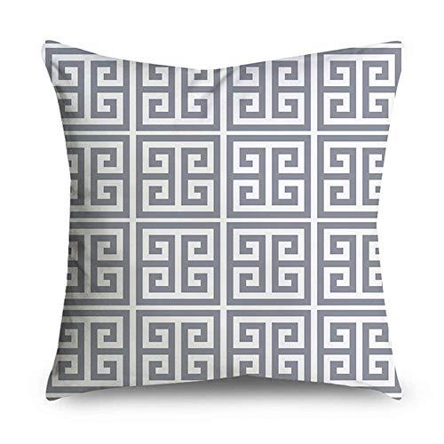 Studyset Kissenbezug, geometrisches Muster, Grau #6