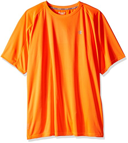 Champion's Männer grossen und hohen Performance Raglan T-Shirt, Neon Orange, 2 X (Hoch Performance T-shirt Groß Und)