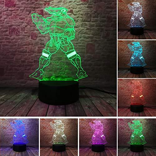 7 Farbverlauf Töne dim USB Touch visuelle Nachtlicht Illusion Schlafzimmer Dekoration Kinder Kinder Weihnachten Spielzeug Geschenke - Dim Ton