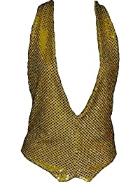 Gold Sequin Waistcoat And Bow Tie size S-M 8-16 BT