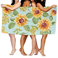 544456ffde Sunflower Beach Towels Ultra Absorbent Microfiber Bath Towel Picnic Mat For Men Women Kids