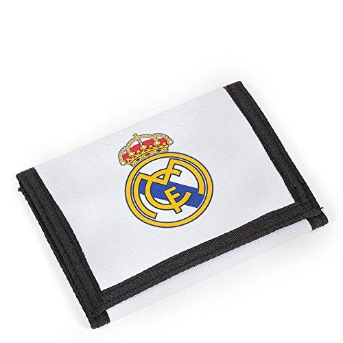 REAL MADRID CF - PORTEMONNAIE 12,2 x 9 x 1,5 CM - KOLLEKTION WEISS/TÜRKIS