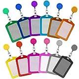 Soleebee Porte-Badges Porte-Clés Badge Reel avec Vertical Porte-Cartes per Téléphone Mobile Petite Fourniture de Bureau - 12 Pièces