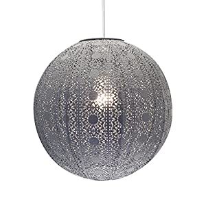 Moroccan Style Chandelier Dark Grey Ceiling Light Shade Fitting Universal by Beamfeature