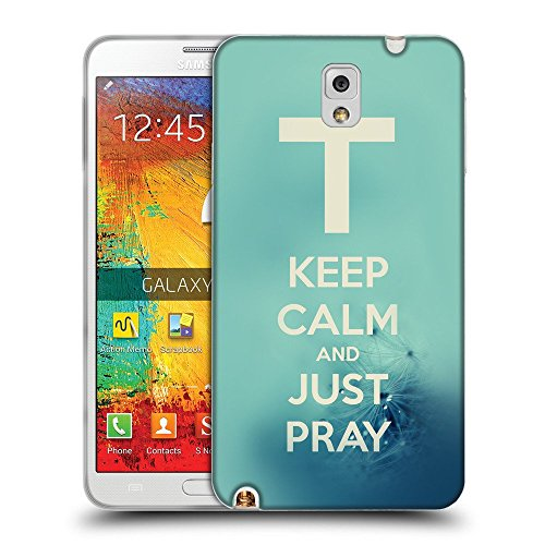Super Galaxy Schutz Hülle TPU Case Schutzhülle Silikon Tasche Dünn Transparent // V00000398 Bibel: Behalten Sie Ruhe und gerade Bete // Samsung Galaxy Note 3 III N9000 N9002 N9005