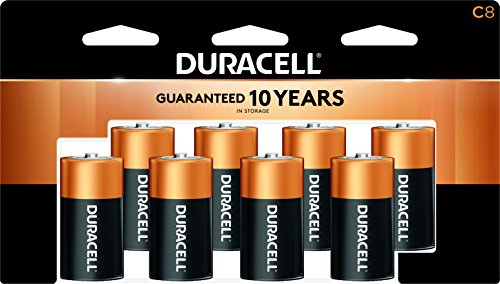 CopperTop Alkaline Batteries with Duralock Power Preserve Technology, C, 8/Pack, Sold as 1 Package - Coppertop Alkaline-batterien