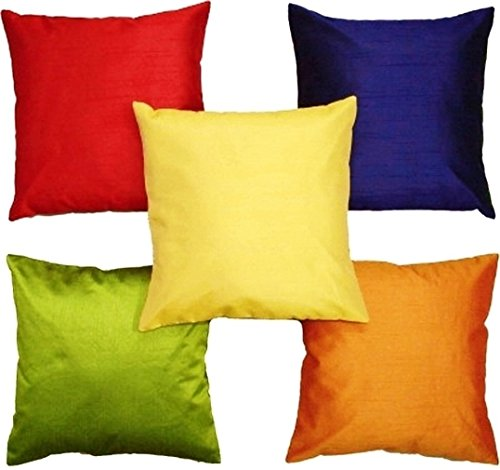 The Purple Tree Multicolor cushion cover set of 5 - 12x12 inches