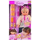 Dimian - Bambolina Bella, muñeca con accesorios para el pelo, color rosa y blanco (Claudio Reig BD327)