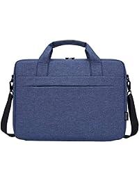 b8cf68ee3a Portatile Spalla Borsa Compatibile 14-15.6 Pollici Laptop, Tessuto  Ultraportatile Protettivo Borsa a Tracolla