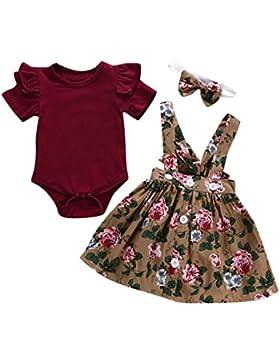 BeautyTop 0-24 Monat Kleidung Set Baby Mädchen Kleinkind Baby Toddler Kinder kurzärmeligen 3 Stück Kind Baby Kurzarm...