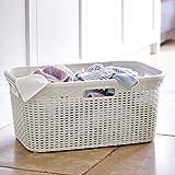 Curver Faux Rattan Laundry & Washing Basket, 45L