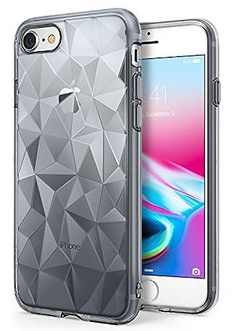 iPhone 7 / iPhone 8 Hülle, Ringke AIR PRISM 3D Design, ultra chic dünn schlang geometrisches Muster flexible Kompletthülle texturiert schützend TPU Fall geschützt Cover für das Apple iPhone 7 – (Satin Gold Sb)