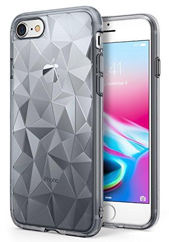 Apple iPhone 7 / iPhone 8 Hülle Ringke [Air Prism Glitter Combo Pack][KOSTENLOSER limitierter Holographischer Deko Film] Funkeln 3D Design, texturiert schützend TPU Fall geschützt - Funkeln Kristallkl Rauchschwarz