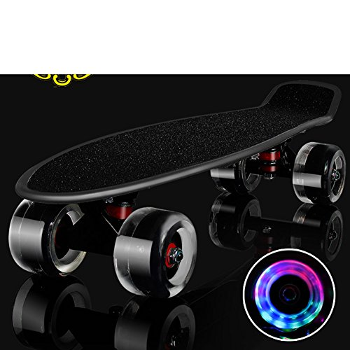 skateboarding-four-round-single-warp-banana-start-walking-in-the-road-adult-scooter-small-fish-board