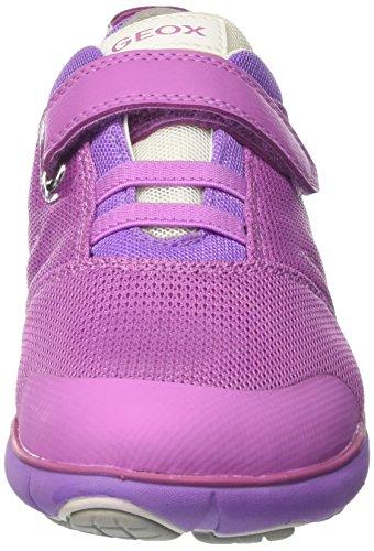 Geox J Nebula Girl A, Sneakers basses fille Rose (Fuchsiac8002)