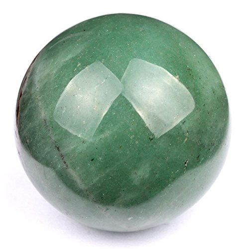 Aura Healing Natural Healing Green Aventurine 50-60mm Sphere Ball 1 Piece : Healing Crystals India by Healing Crystals India -
