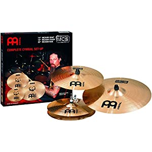 MEINL MCS Set di Piatti – Hi Hat 14, Crash 16, Ride 20 – MCS141620-3