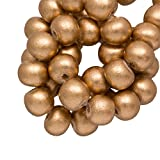 Holzperlen Vintage Look (6 mm) Gold (280 Stück)