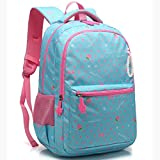 Zmsdt Wasserdichte Schulrucksack Brustgurt Kinder Schultasche Kinder Mädchen Schulrucksack (Farbe : Blau, größe : Large)
