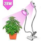 Lampe de Croissance LED Grow Light 20W Ampoule de Culture Floraison Ampoules de Serre pour Plantes d'Intérieur/Jardin/Serre/Greenhouse/Glasshouse (Lumière Rouge et Bleue)