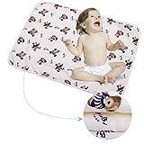 3 Stück Säugling Wasserdicht Urin Matte Abdeckung - Atmungsaktiv Pad Protector wechseln fürs Kleinkind Jungen Mädchen (Bär, S - 35 x 45 cm (3 Stück))