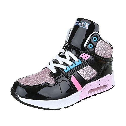 Ital-Design - Pantofole a Stivaletto Donna Schwarz Multi
