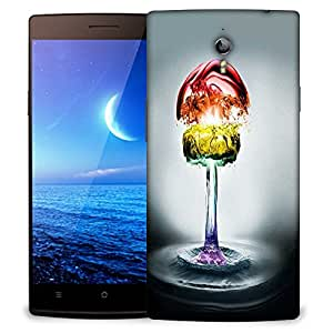 Snoogg Colorful Water Phases Designer Protective Back Case Cover For OPPO FIND 7