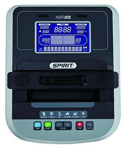 """Spirit Fitness Bike XBR 25 – Heimtrainer, Sitz-Ergometer, 6 Programme, 9kg Schwungrad, 7,5"""" LCD - 2"""