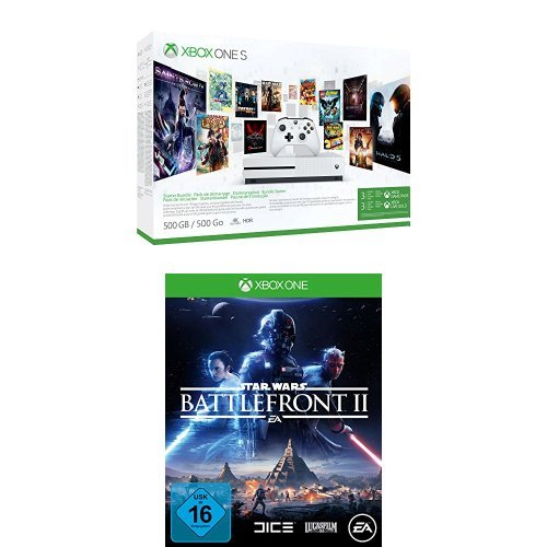 Xbox One S 500GB Konsole - Starter Bundle + Star Wars Battlefront II